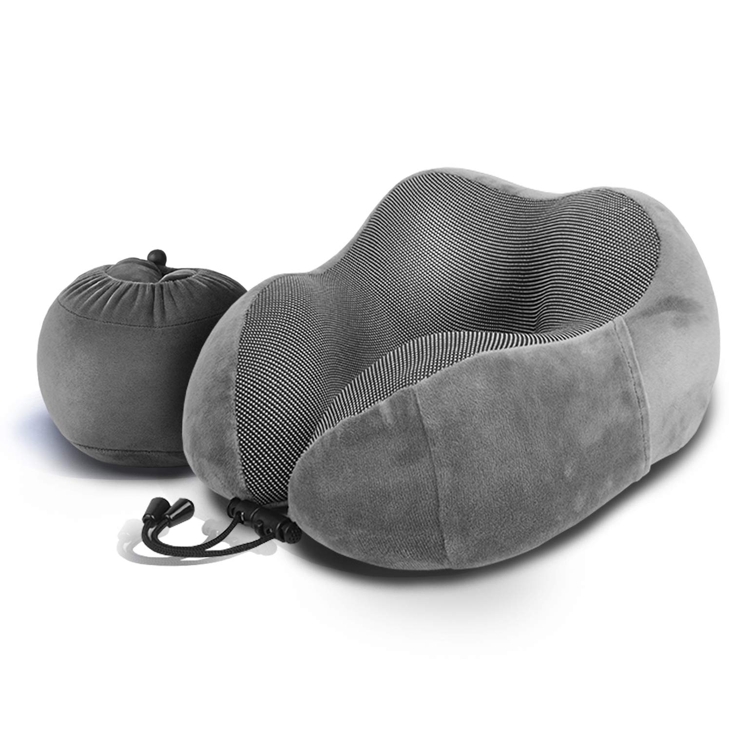 Luxsure Memory Foam Neck Pillow & Comfortable Head Cushion Flight Pillow