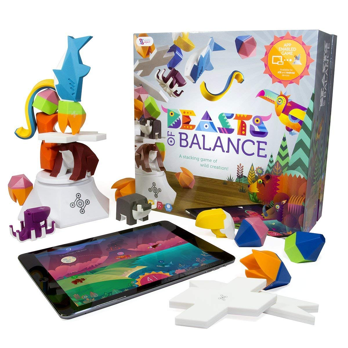 Beasts of Balance digital tabletop hybrid stacking family game 25 PCS