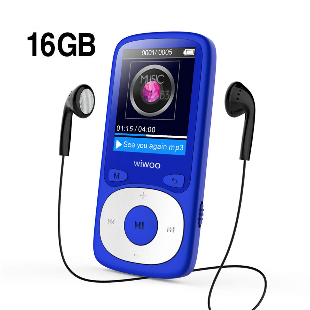 Wiwoo MP3 Player, 16GB Digital Audio Music Player