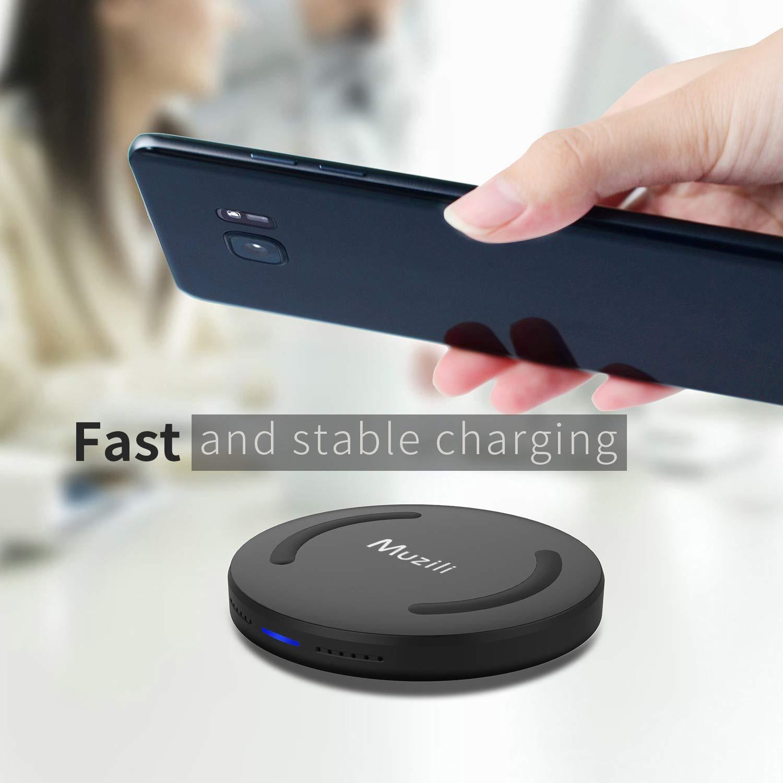 Muzili Wireless Charger, Fast Qi Wireless Charger Wireless Charging Pad Qi- Certified Wireless Charger Fast-Charging