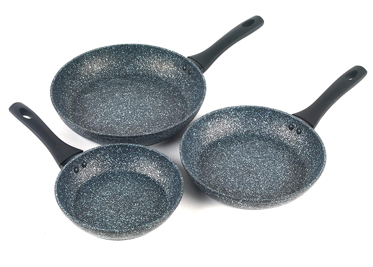 Salter Megastone Collection Non-Stick Frying Pan Set