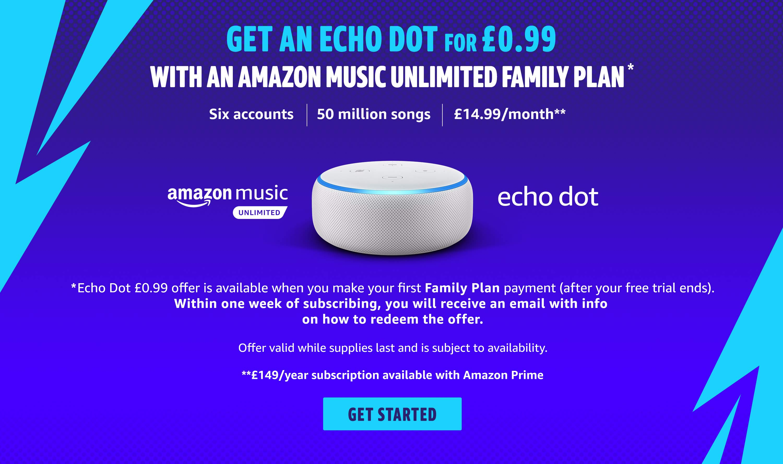 Amazon Echo Dot For £0.99