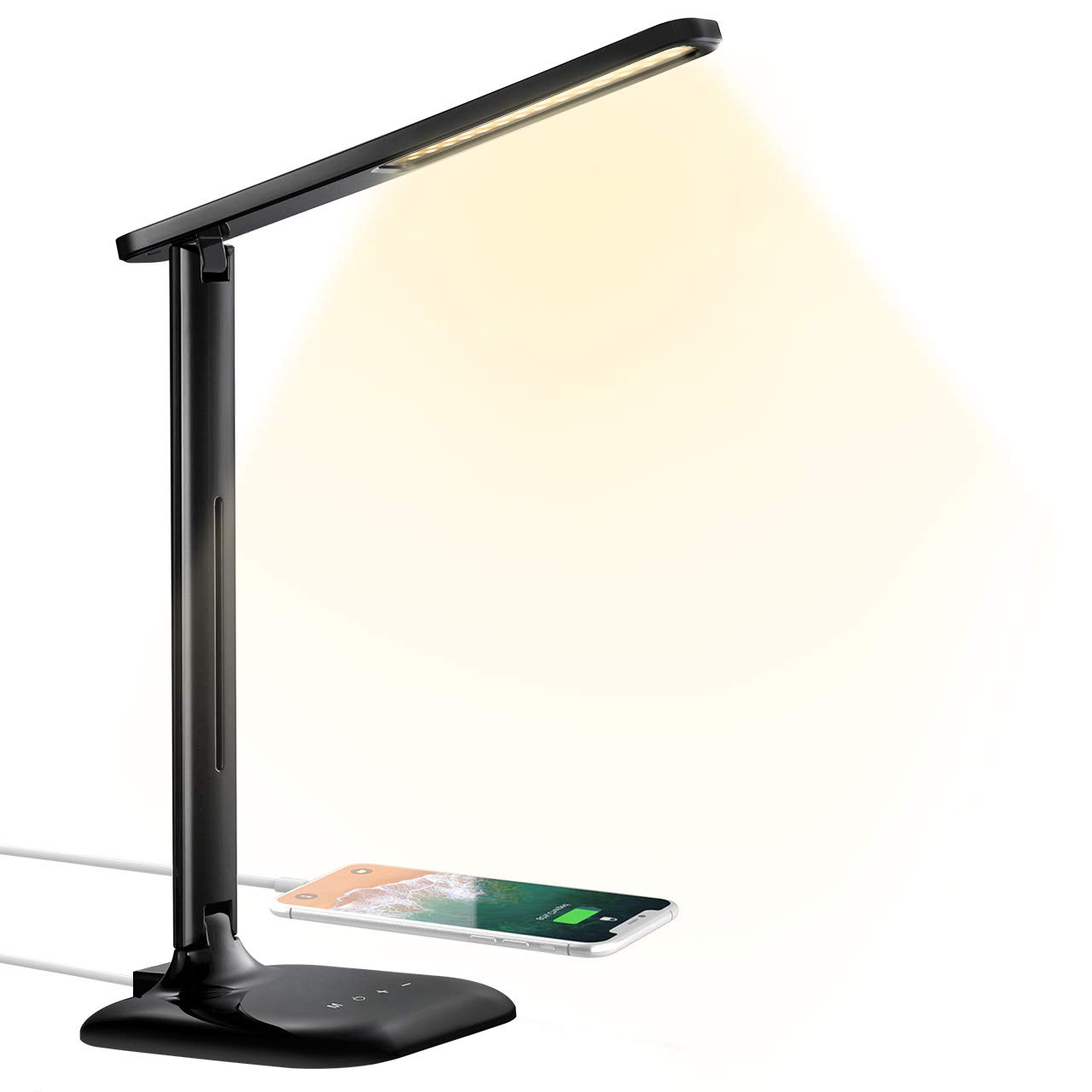 TOPELEK Eye-caring Bedside Table Lamps Dimmable Reading Desk Light