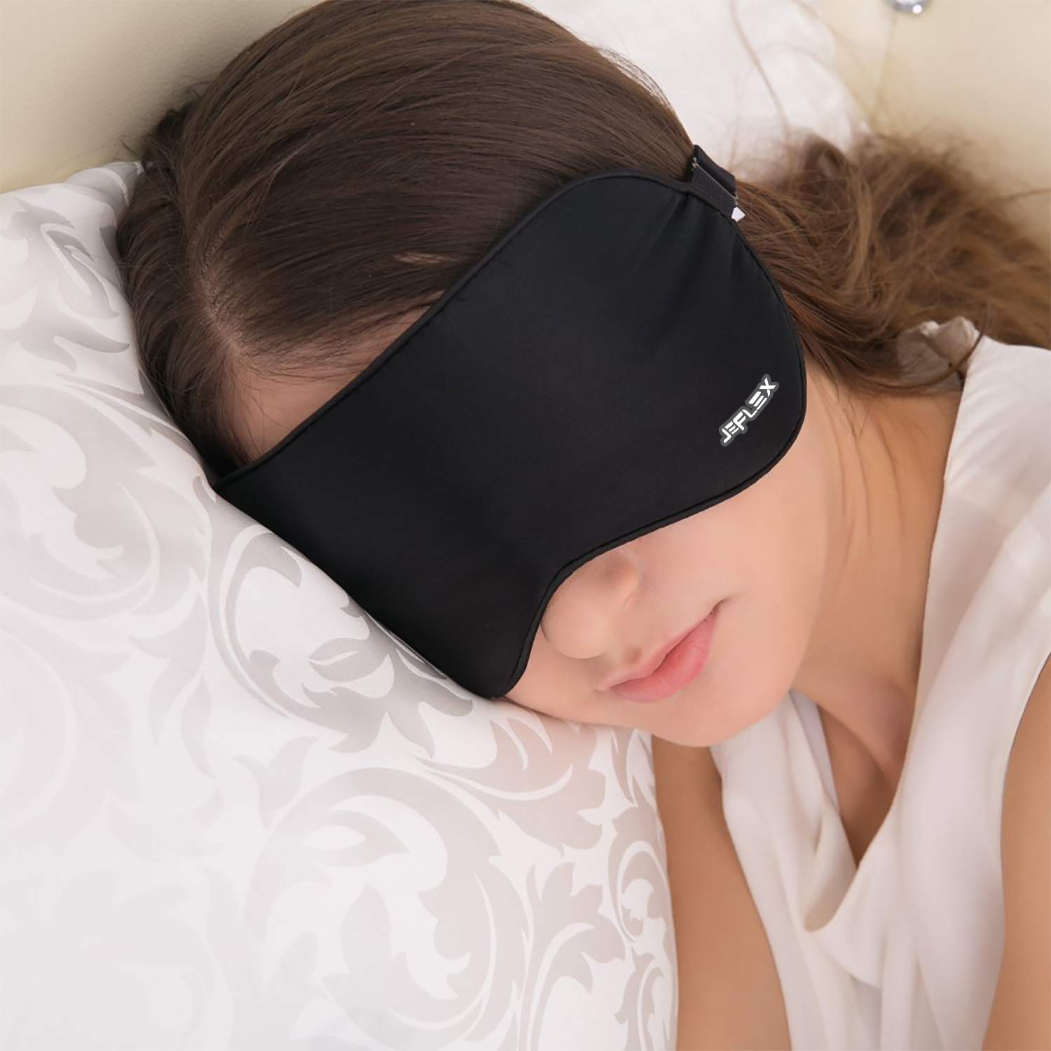JEFlex Natural Silk Sleep Mask Blindfold