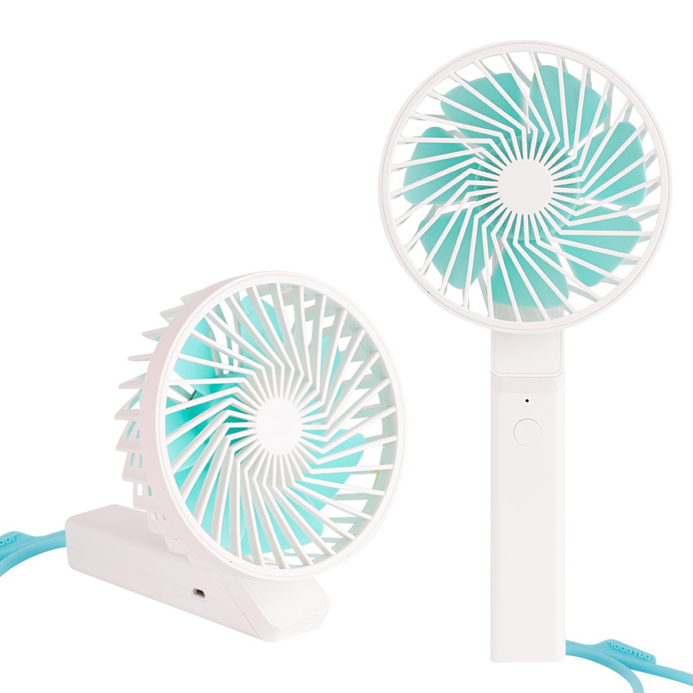 Aerb Mini Fan, Handheld Fan, Dual use for Desk Fan & USB Outdoor Fan