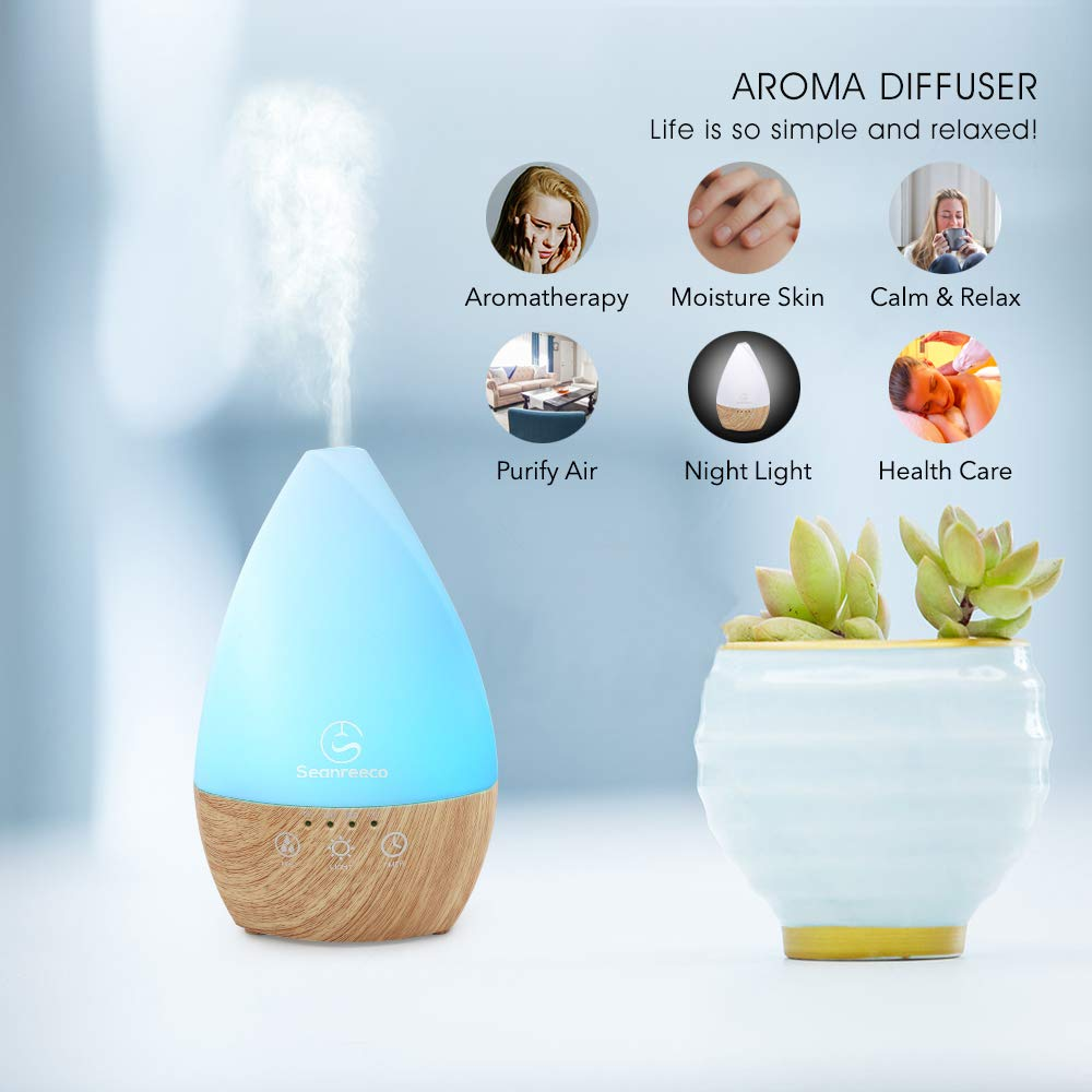 Essential Oil Diffuser / Humidifier – 200ml 7 LED colour lights