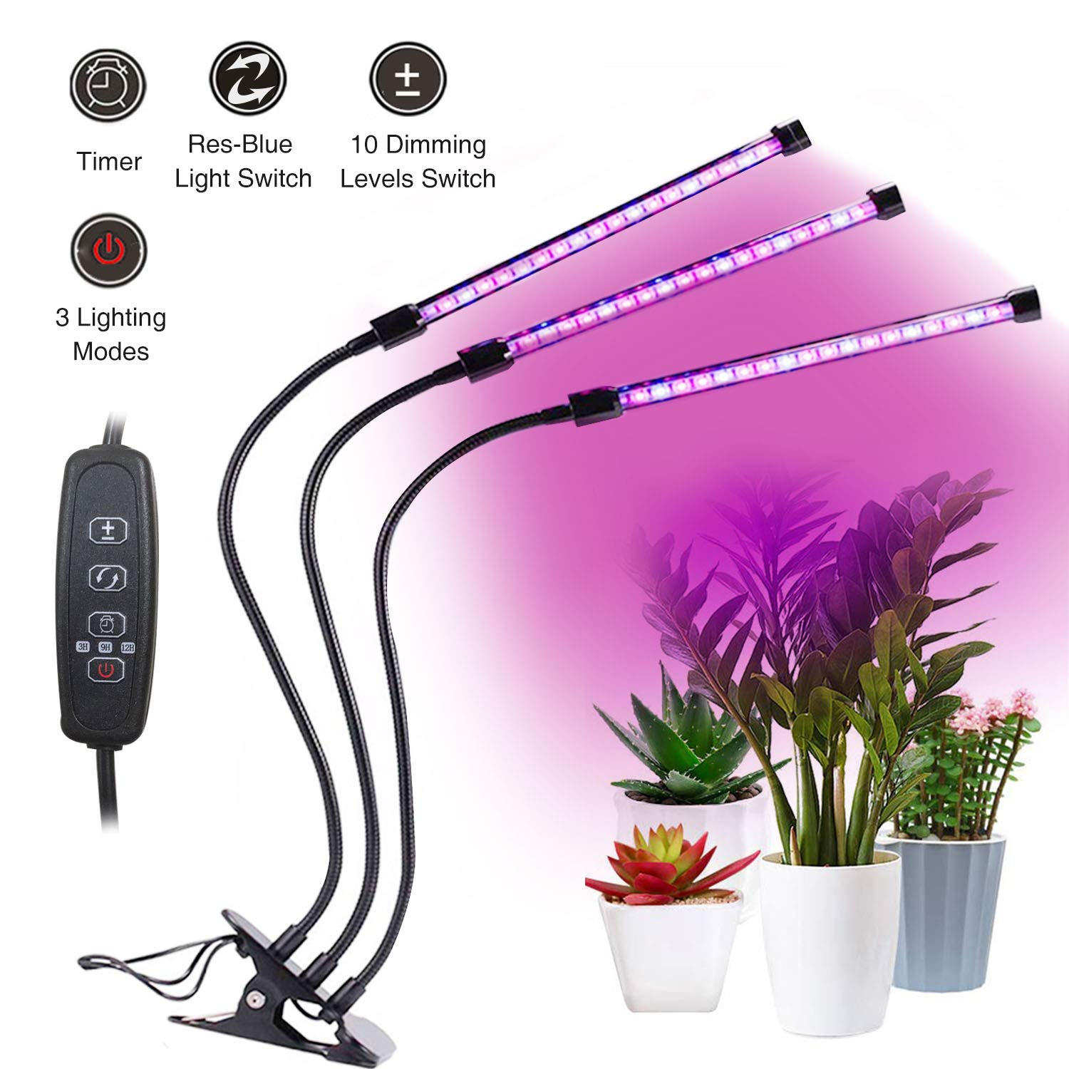 YEESON 27W Plant Grow Light with Timed Function
