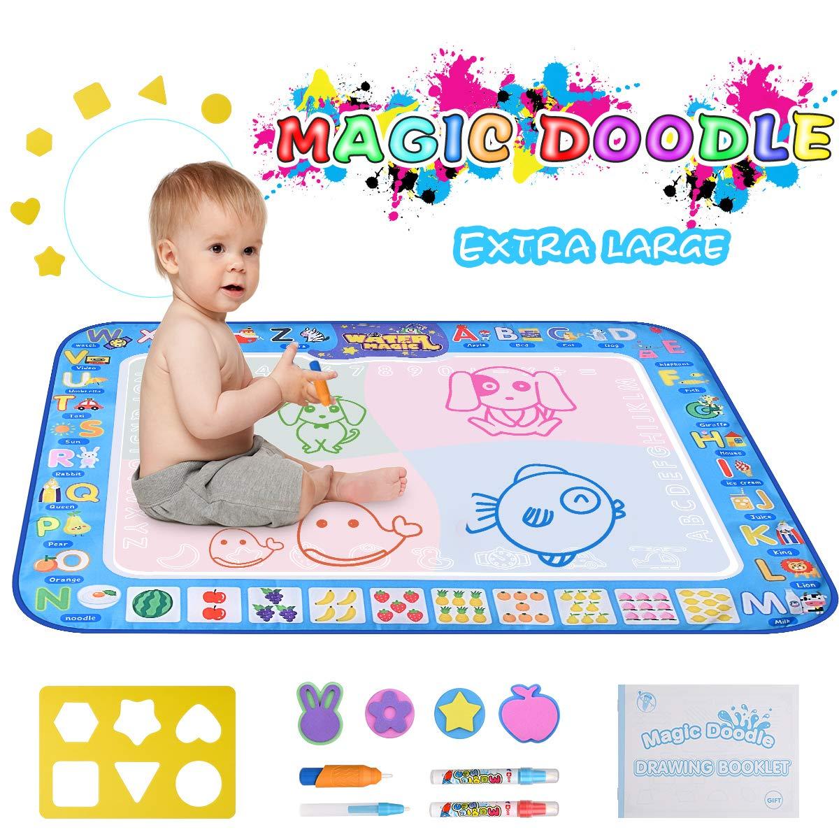 pipigo Doodle Mat, Water Doodle Mat Large(100 X 76 cm) Kids Doodle Mat