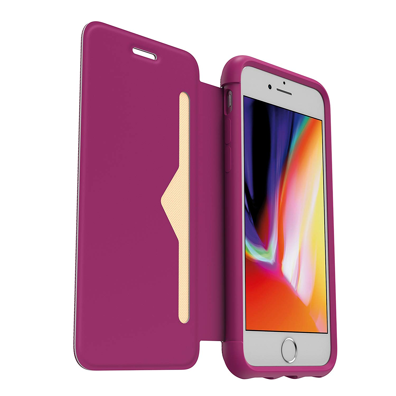 Flap Case Anti-shock Elegant Ultra Thin With Option Stand and Location Card for iPhone 7/8