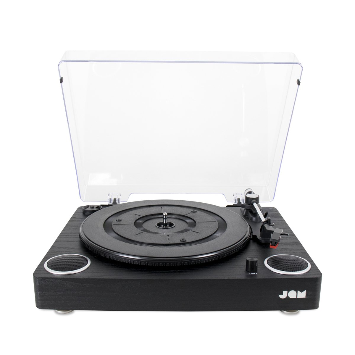 Jam Play Turntable Vinyl Record Player, 3 Speed Belt Drive