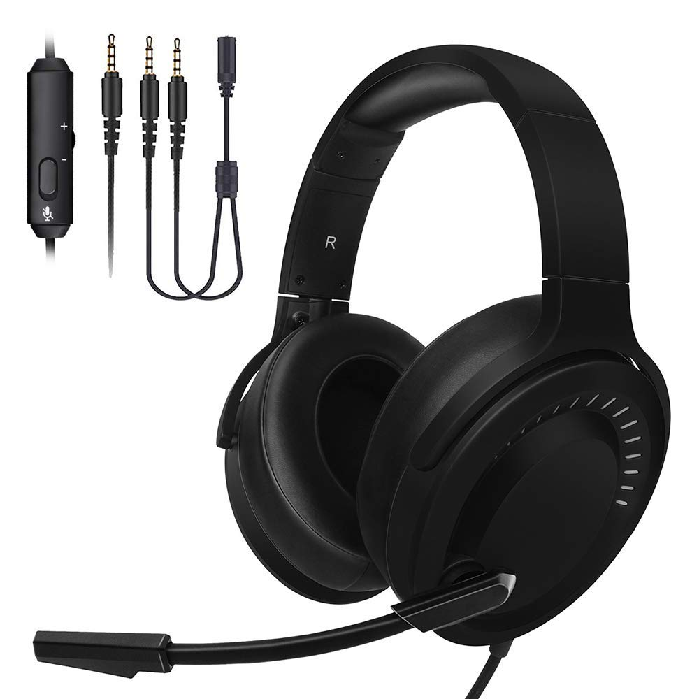 Gaming Headset,PS4 Headphones Xbox One 3.5mm Gamer Headphone Noise Cancelling Headsets Bass Stereo Surround Sound