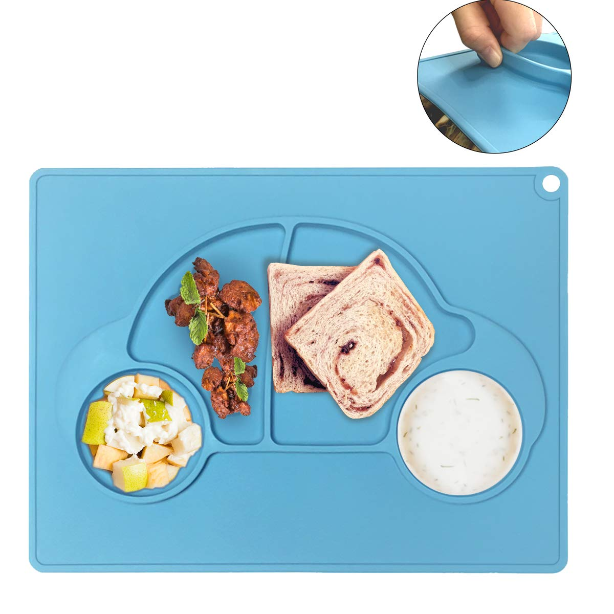 Baby Silicone Placemat, Silicone Toddler Feeding Plates