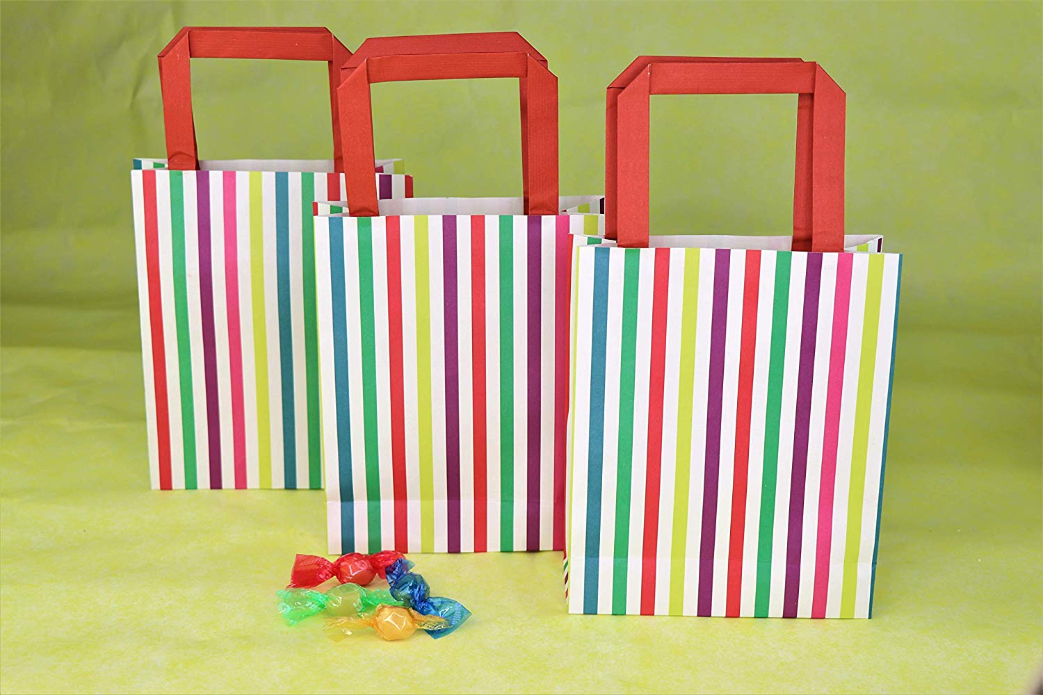 Talking Tables MIX-PARTYBAG-MULTI Paper Bags with Handles | Kids Party 8 Pack