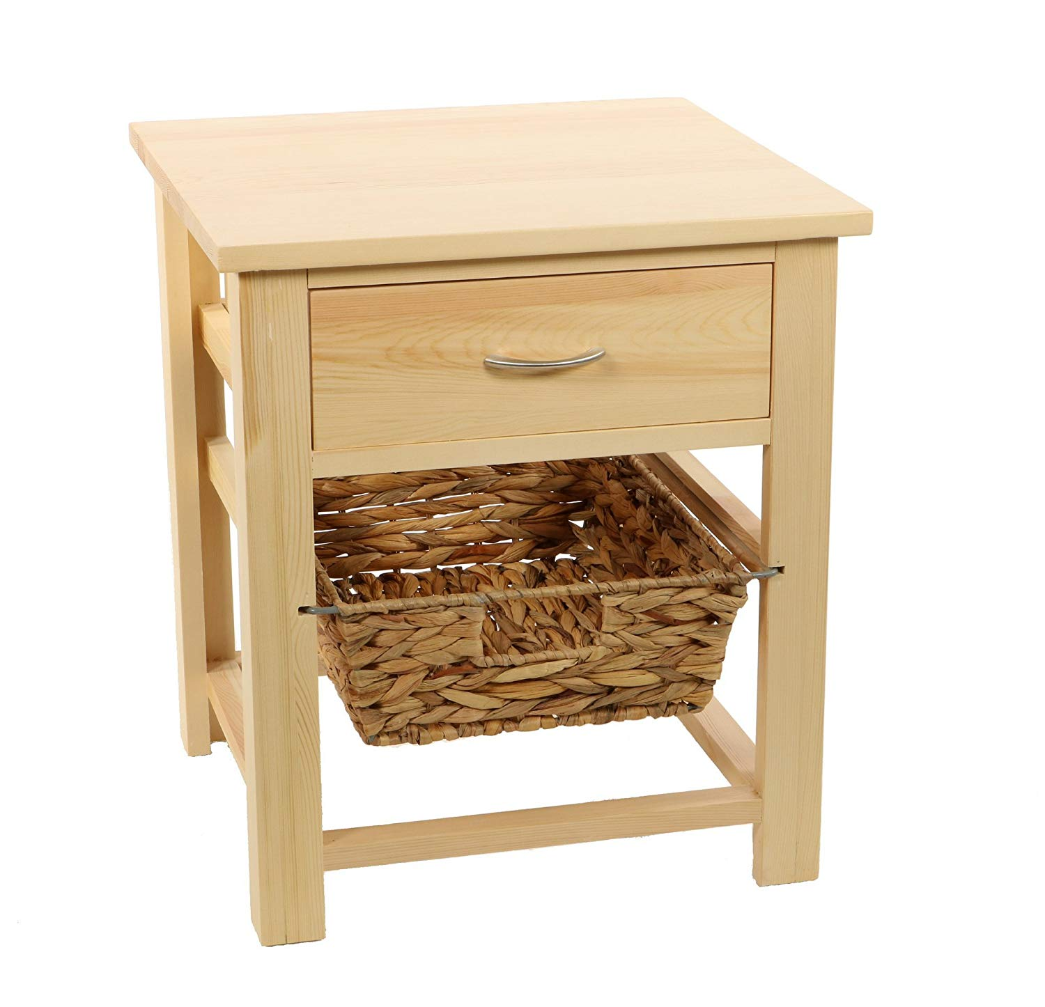 DECOMANIA- bedside table nightstand 1 drawer and 1 hanging basket