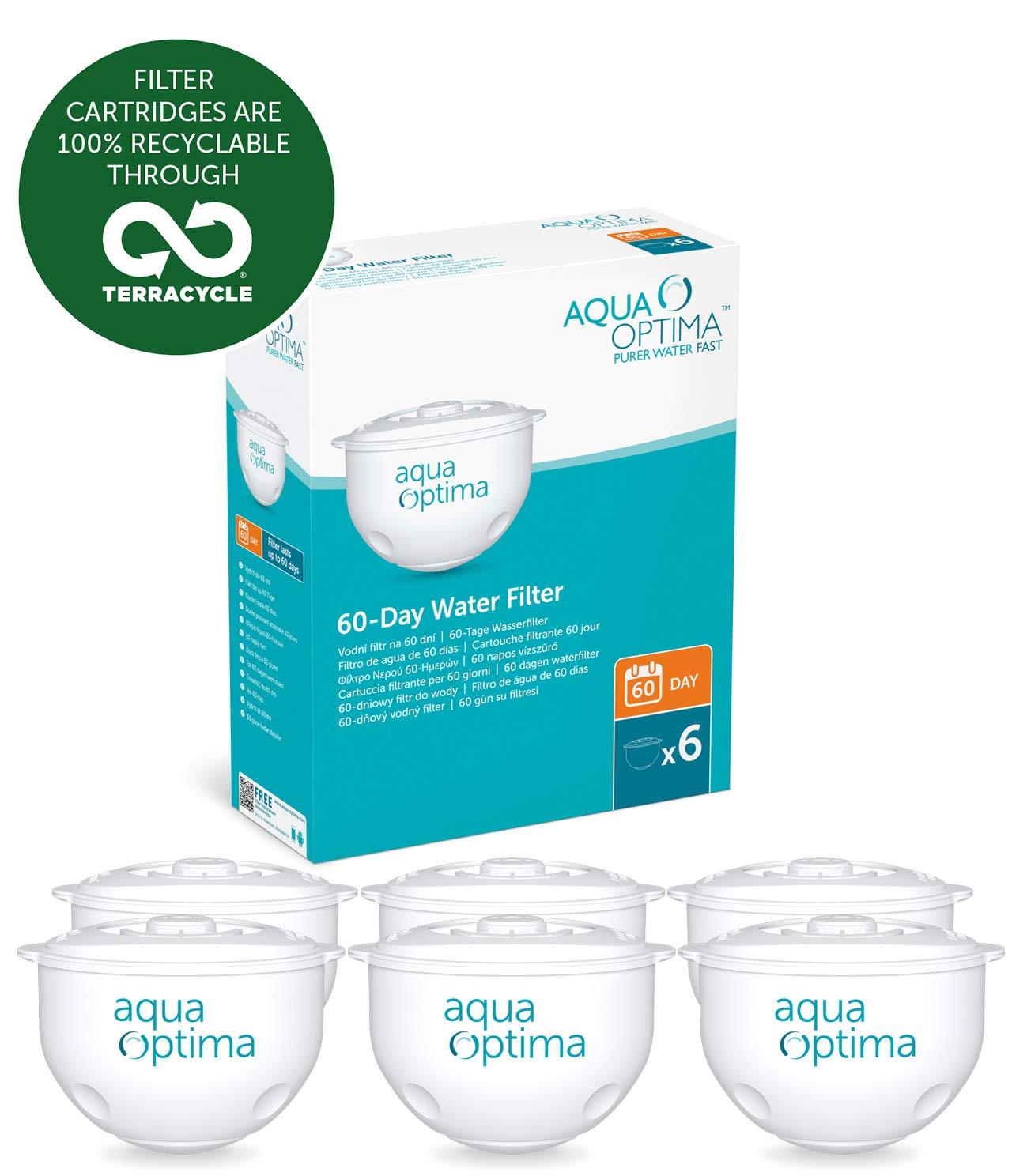 Aqua Optima Original 12 month pack, 6 x 60 day water filters