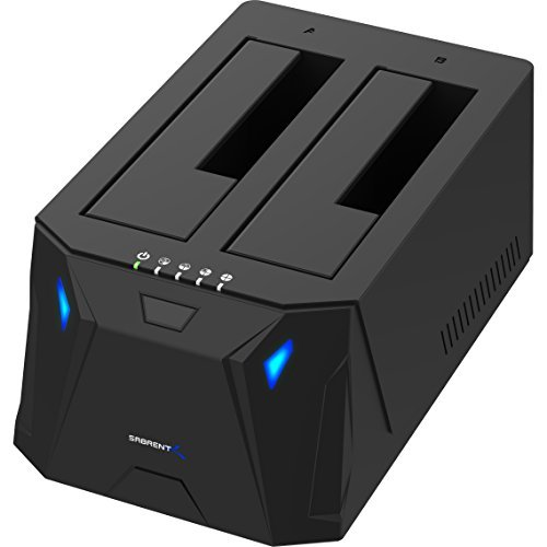 Sabrent USB 3.0 to SATA I/II/III Dual Bay External Hard Drive Docking Station