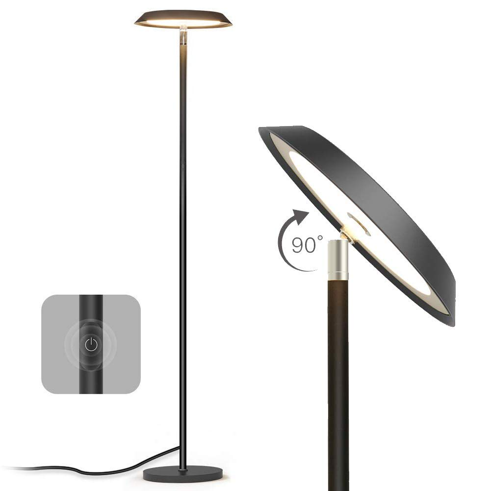 Floor Lamp,LED Dimmable Tall Floor Lamps,Modern Industrial Standing Light