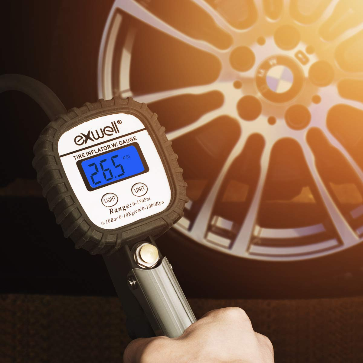 RANIACOExwell Exwell Tyre Pressure Gauge Classic Digital Tyre Gauge