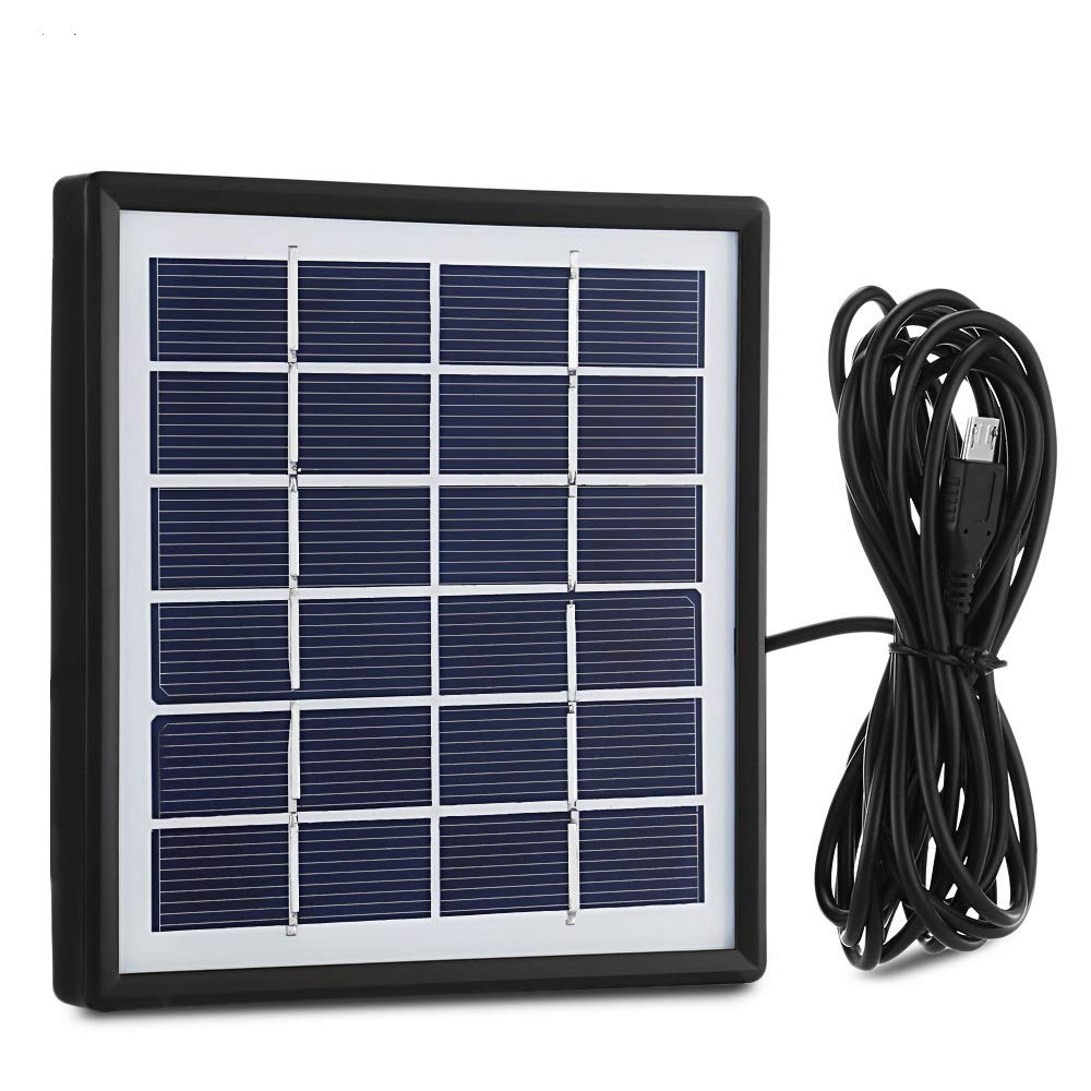 Elelight Solar Panel with 3M Outlet Cable