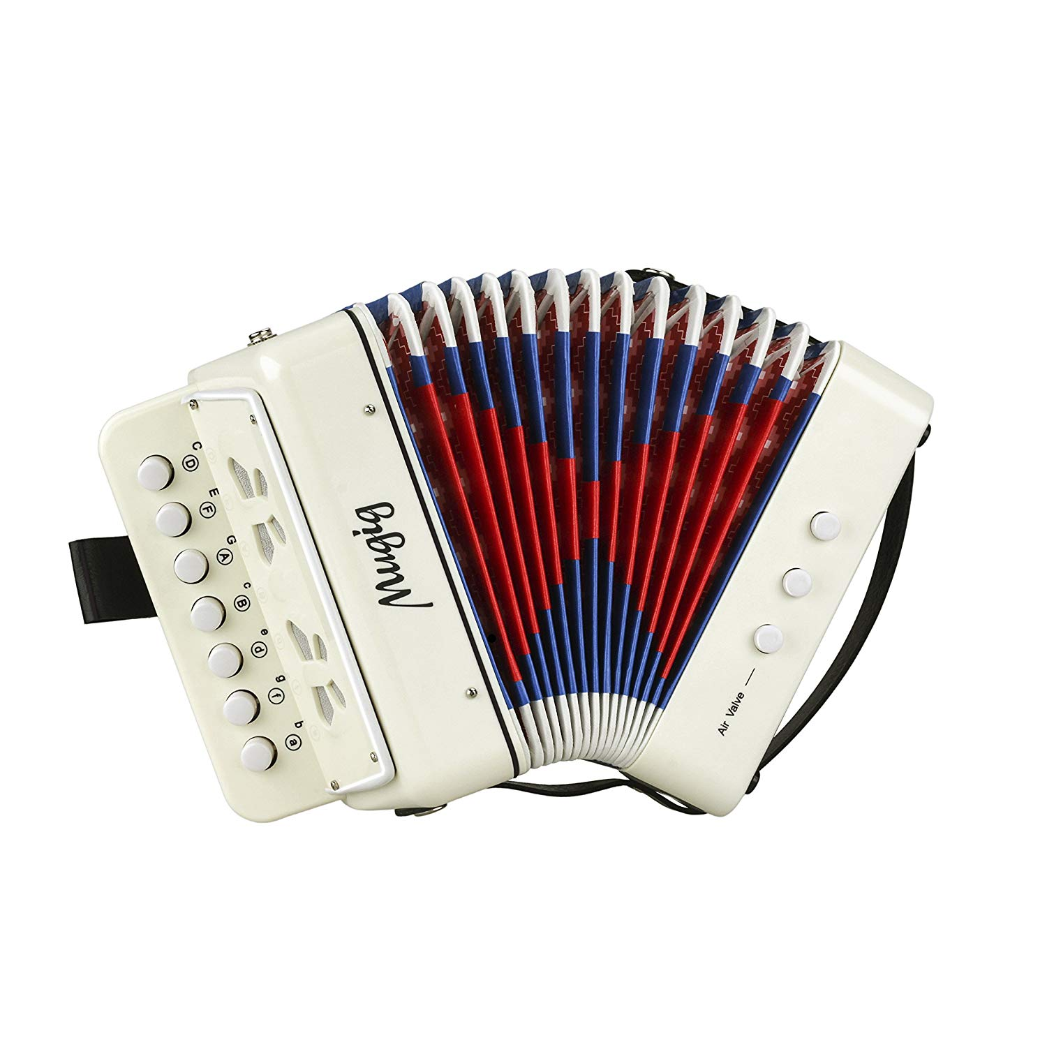 Mugig Button Accordion 10 Keys Diatonic for Solo and Ensemble Kid and Beginner Friendly
