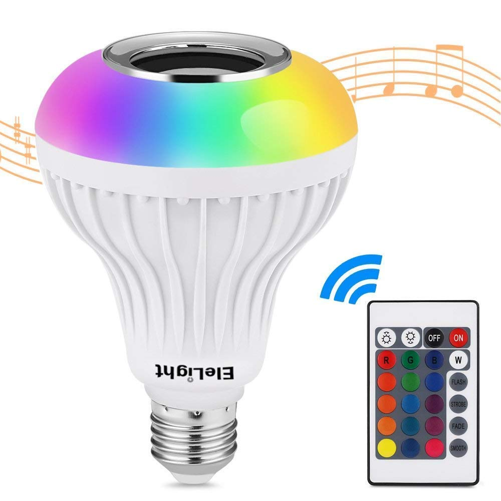 LED RGB Light Bulb with Colour Changing and Bluetooth Speaker