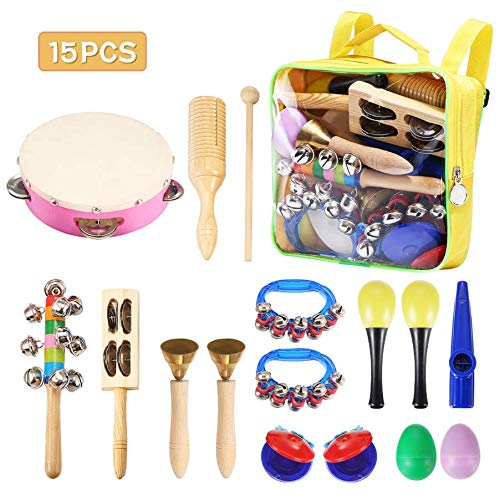 Child Percussion Instrument Set NASUM Musical Instruments Rhythm Toys Set for Kids