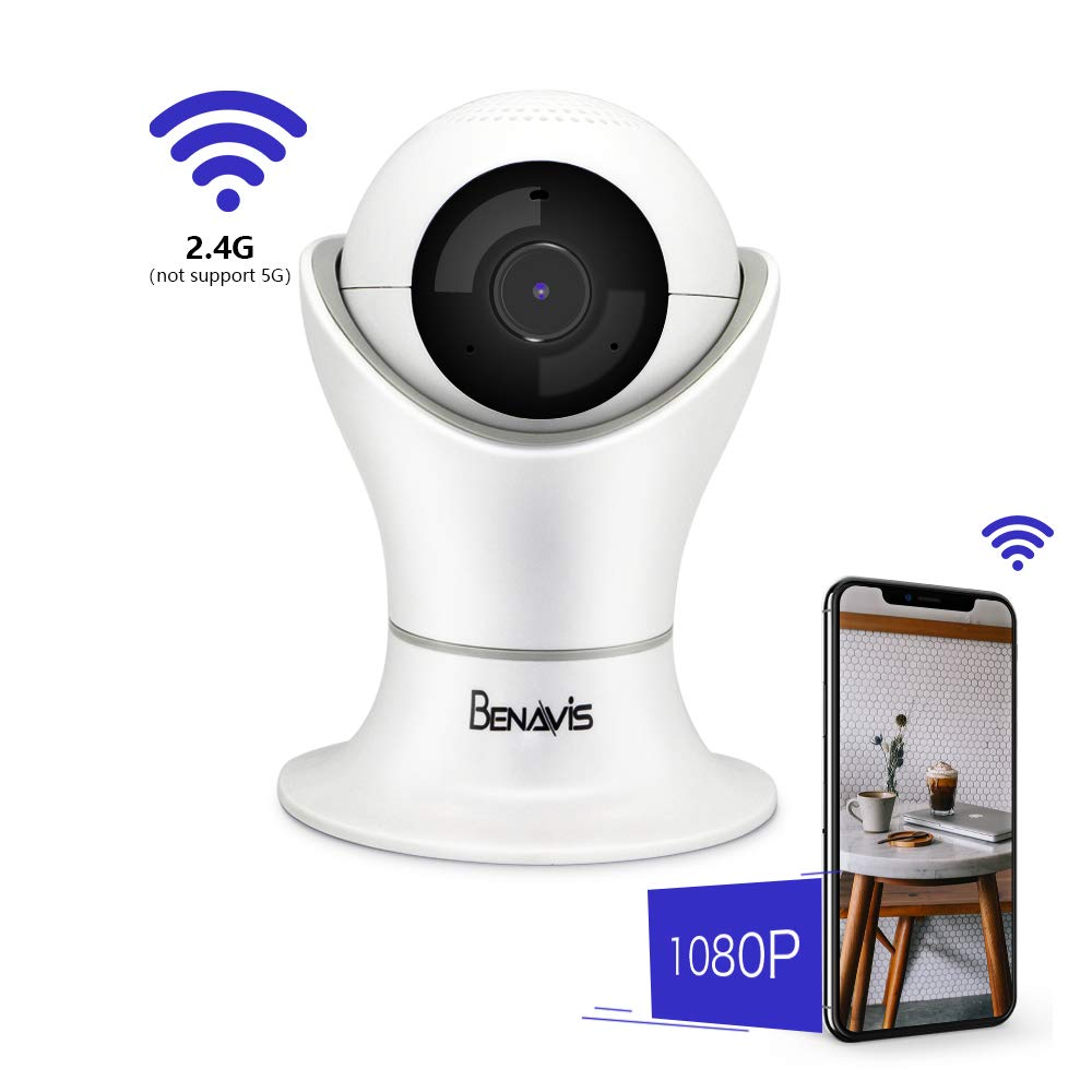 Wifi 1080p Camera, AES Encryption Full HD 2MP 1920 x 1080 Wireless Security Cams