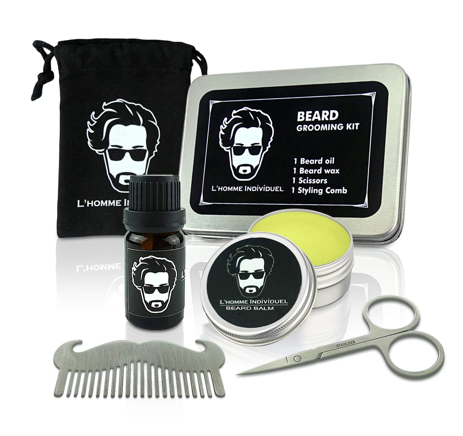 L'homme Individuel Beard Grooming & Trimming Kit for Men