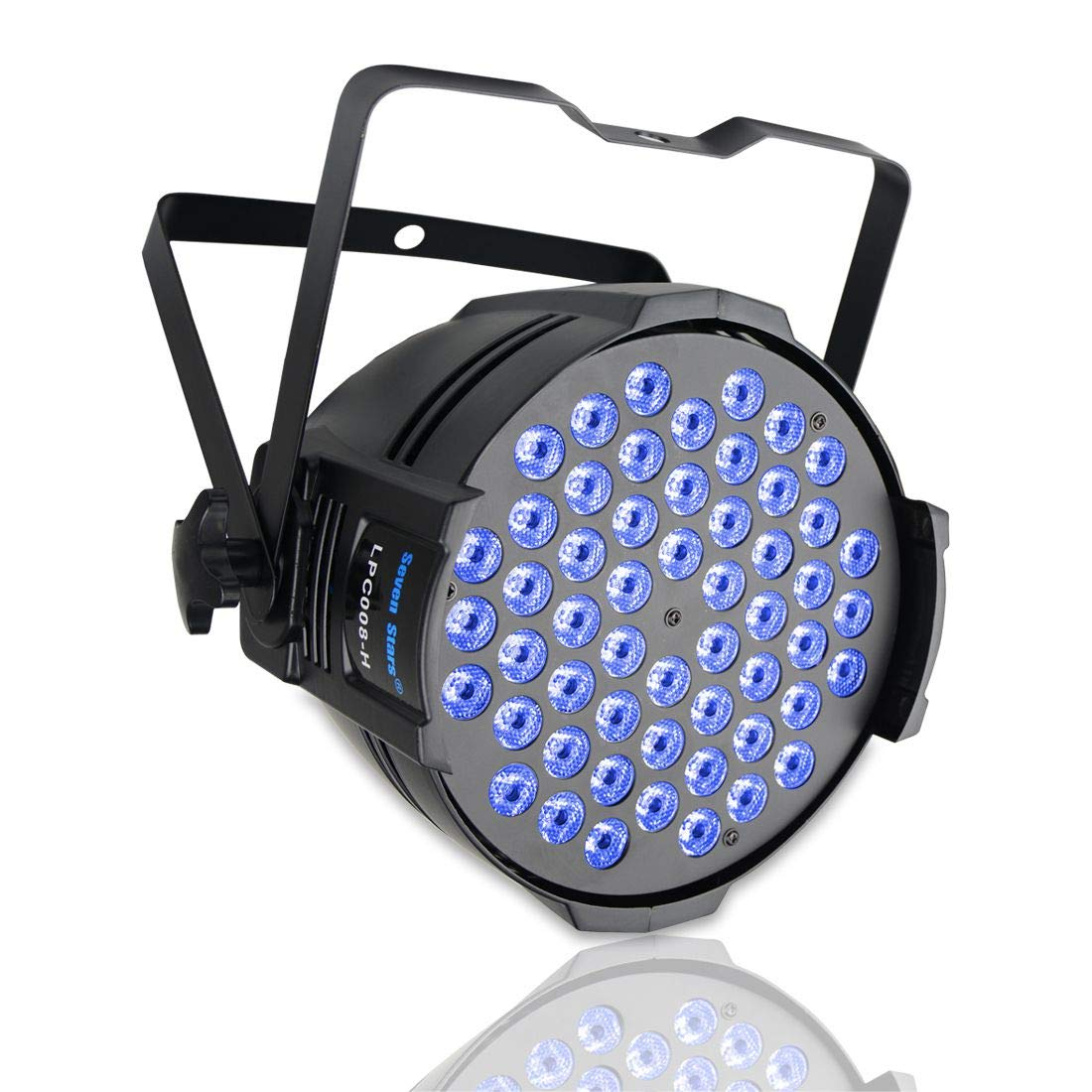 SevenStars DJ PAR Lights led wash light 54×1.5W RGB 3 in 1 LED Par Lights with dmx 512 Music-Controlled/Master-Slave