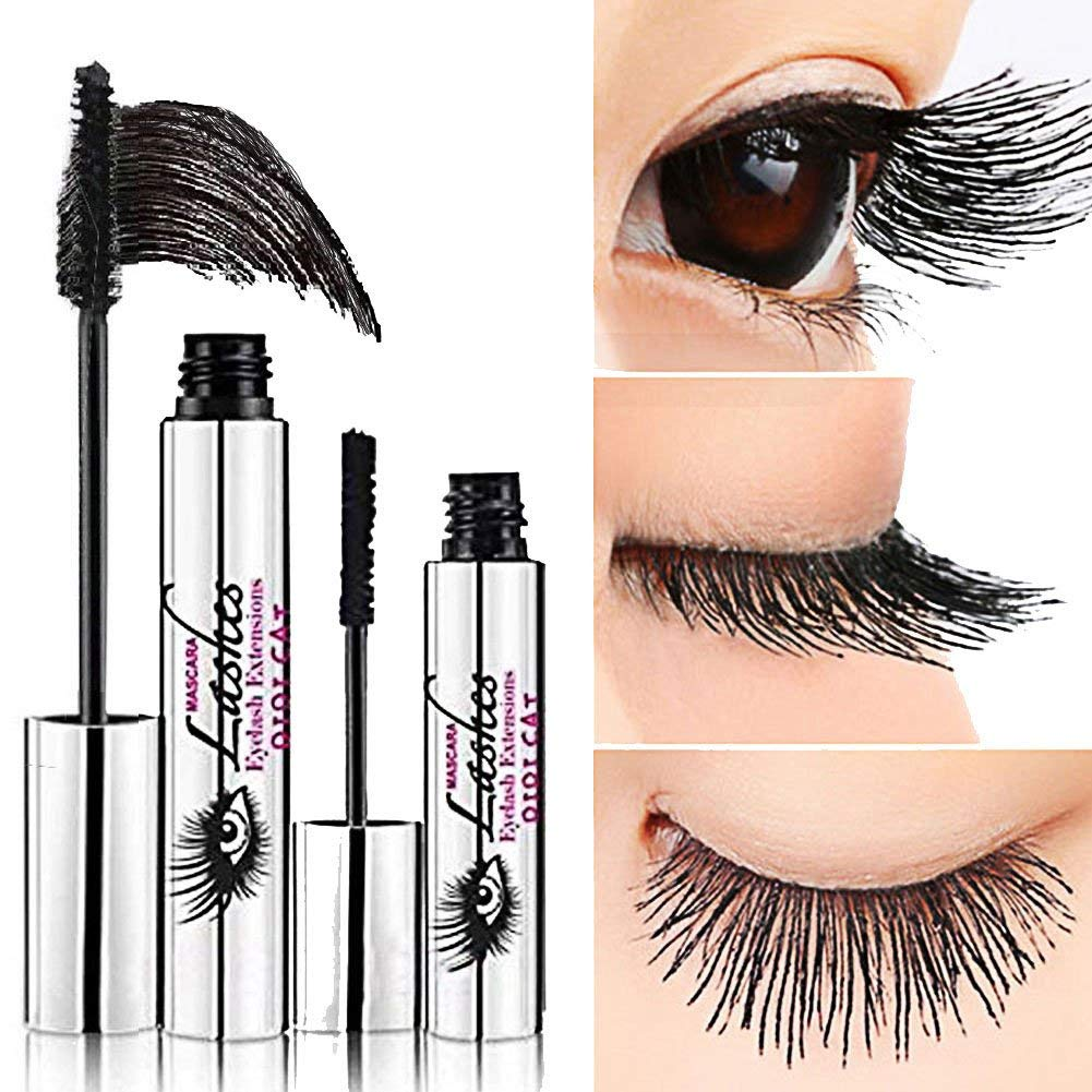 DDK 4D Mascara Cream silk fiber lash mascara Natural Crazy lengthening Extension Mascara Waterproof  Intensive Long Eyelash