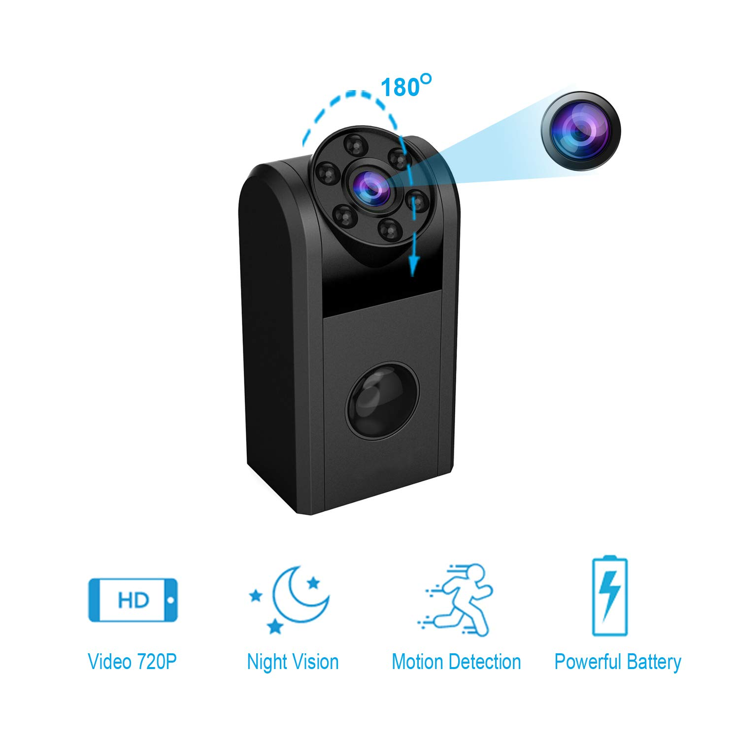 Hidden Camera, HD Spy Camera Mini Home Security Camera
