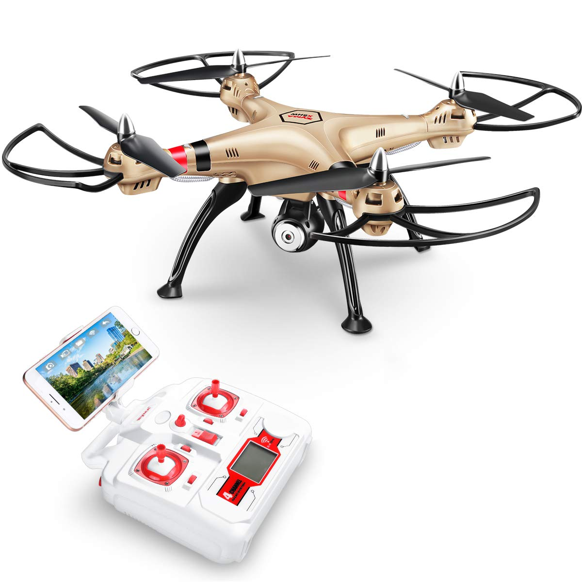 DoDoeleph FPV Drone with 720P HD Camera Wifi Live Transmission SYMA X8HW Remote Control Quadcopter