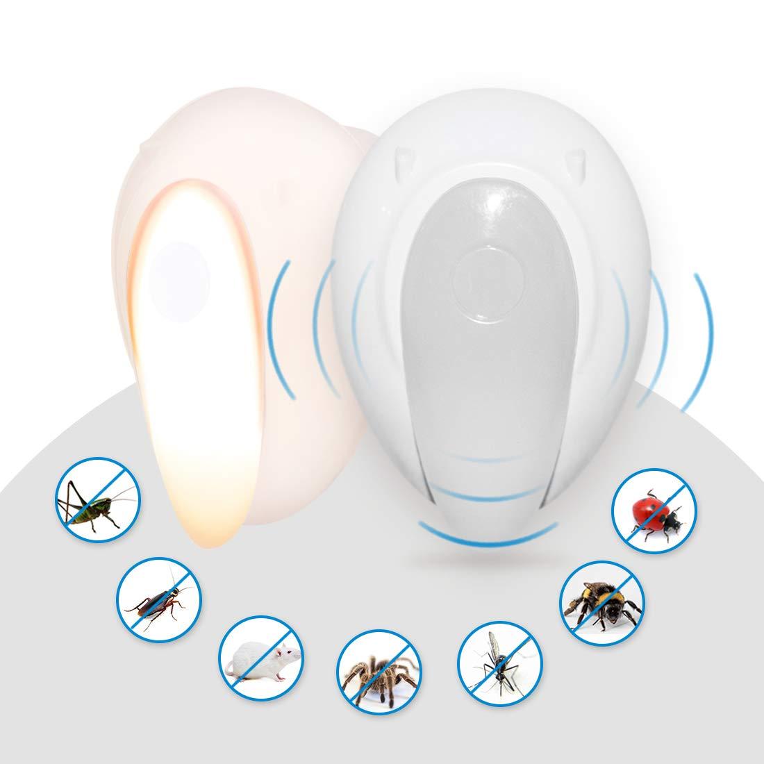 JOKBEN Ultrasonic Pest Repeller, 2pack