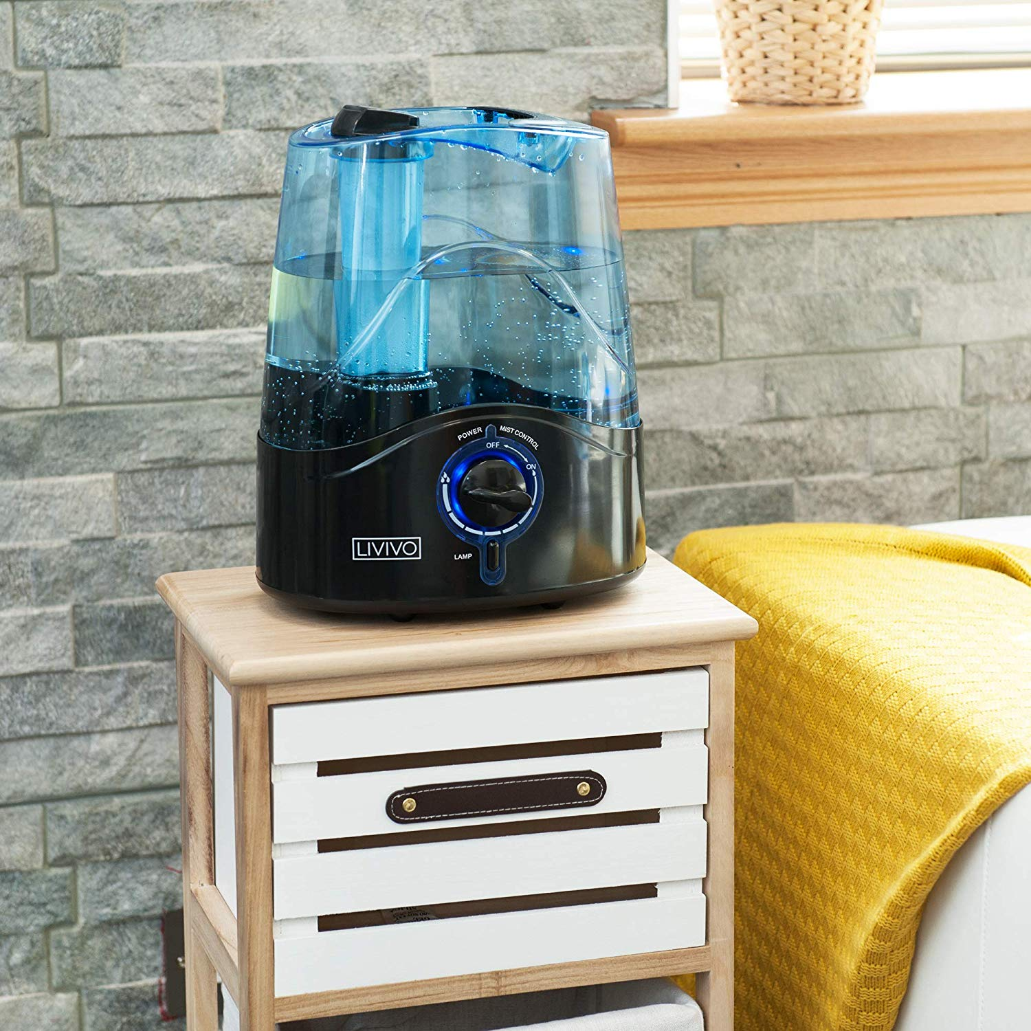 19.95 LIVIVO 4.5L Ultrasonic Cool Mist Humidifier