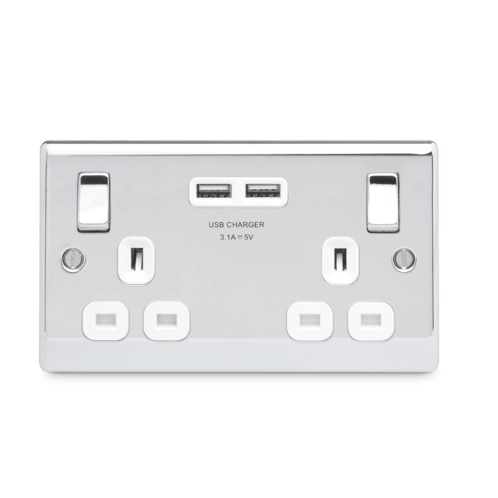 13A DOUBLE SWITCHED SOCKET + USB (2 PORT 3.1A)