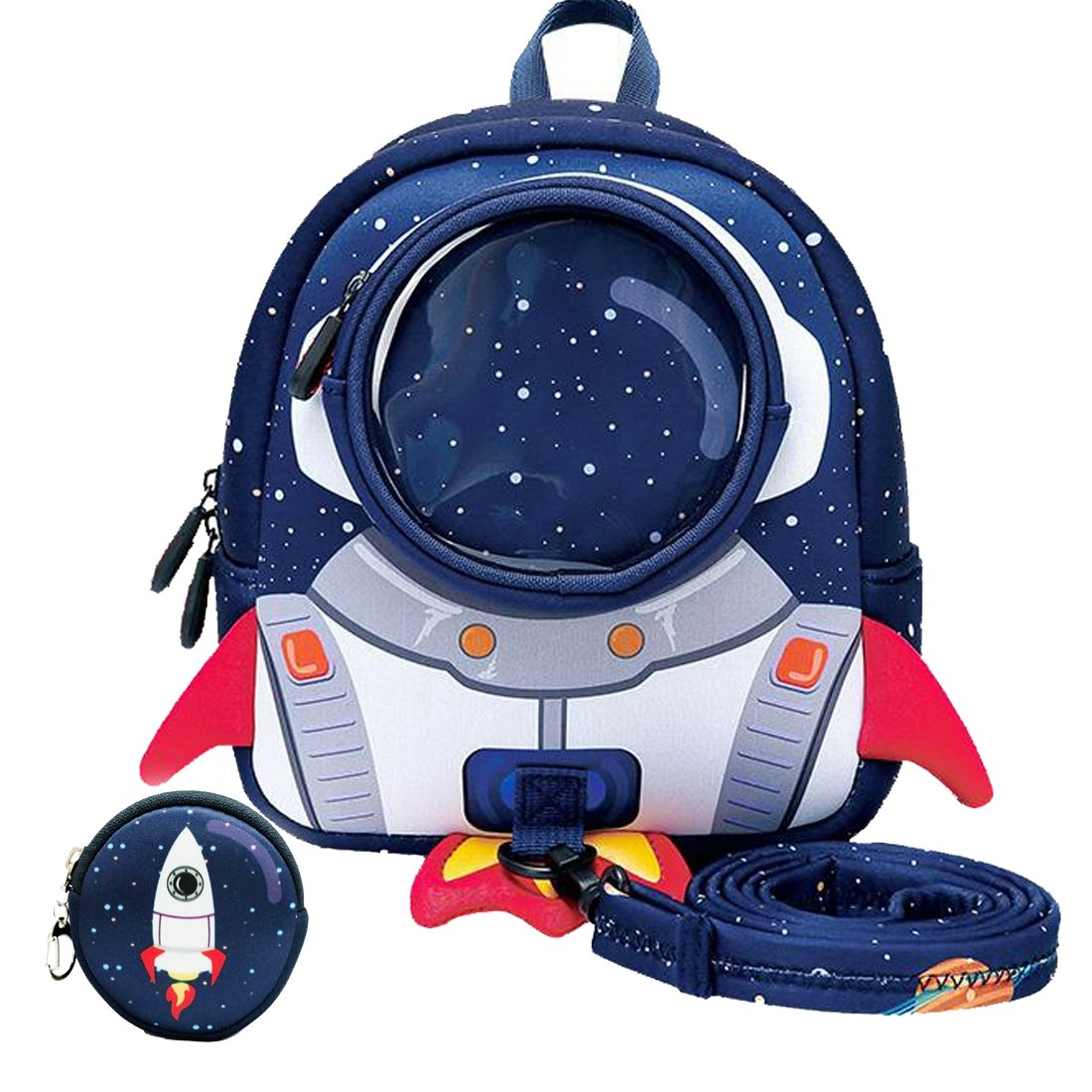 3D Cartoon Kids Dinosaur/Rocket Backpack