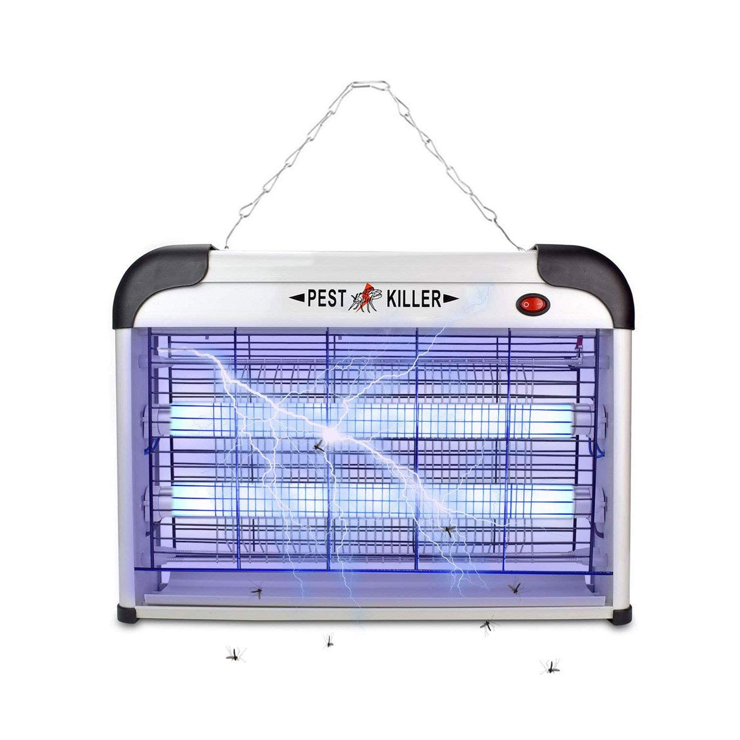 MaxKare Bye Bug Zapper UV Light Attract, Silver, Middle