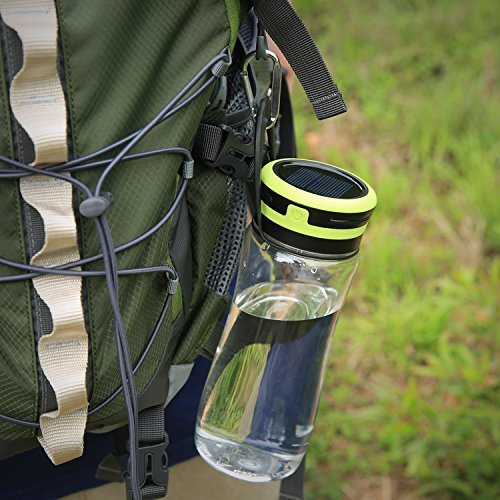 Aglaia Water Bottle Camping Lantern USB & Solar Rechargeable Outdoor Light