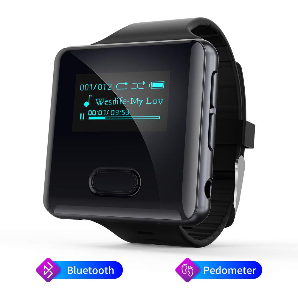 Bluetooth MP3 Player, 16 GB Running Watch MP3 Music Player