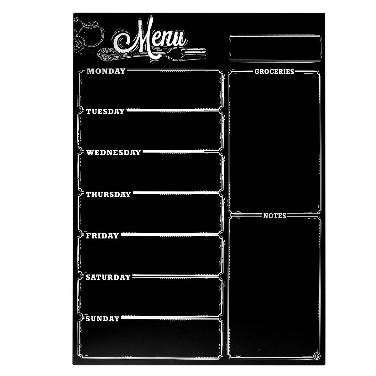 Meal Planner,Magnetic Refrigerator Chalkboard,Shopping List, Meal Planner