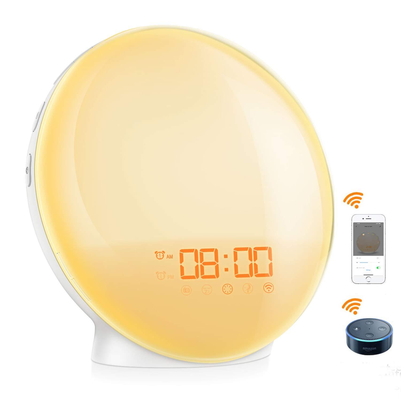 [2019 New] ORIA Sunrise Alarm Clock, Smart Wake Up Light
