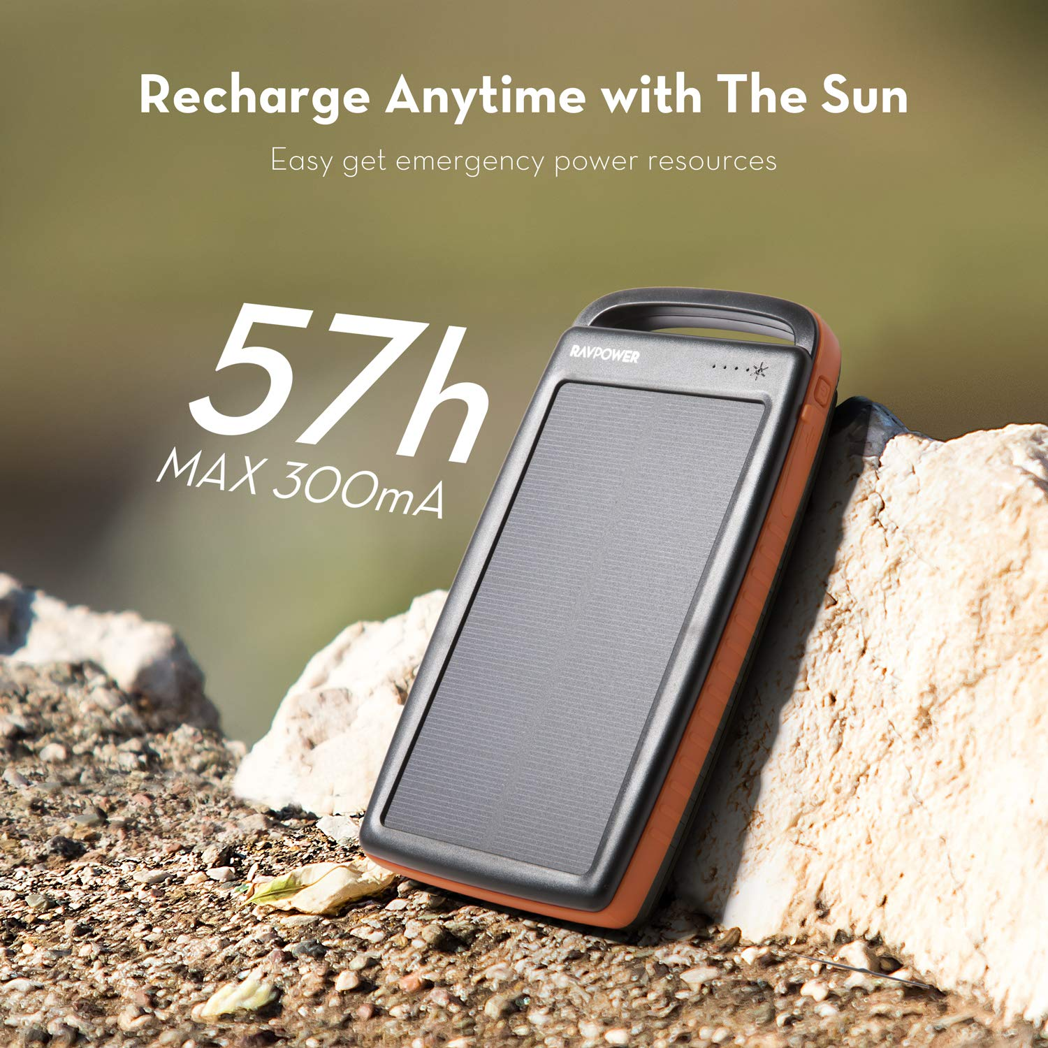 Solar Charger 20000mAh Portable Charger Solar Power Bank with Flashlight for Outdoor