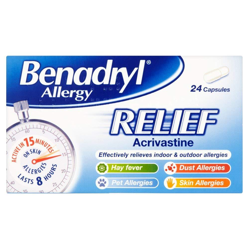 Benadryl Allergy Relief Capsules, 24 Each