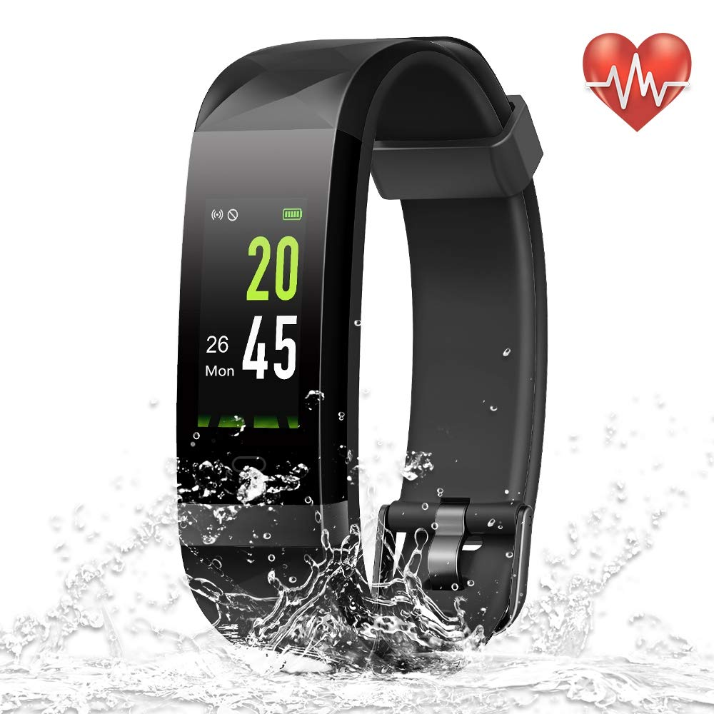 YoYoFit Heart Rate Monitor, Waterproof IP68 GPS Fitness Tracker with 24/7 Wrist Band HR