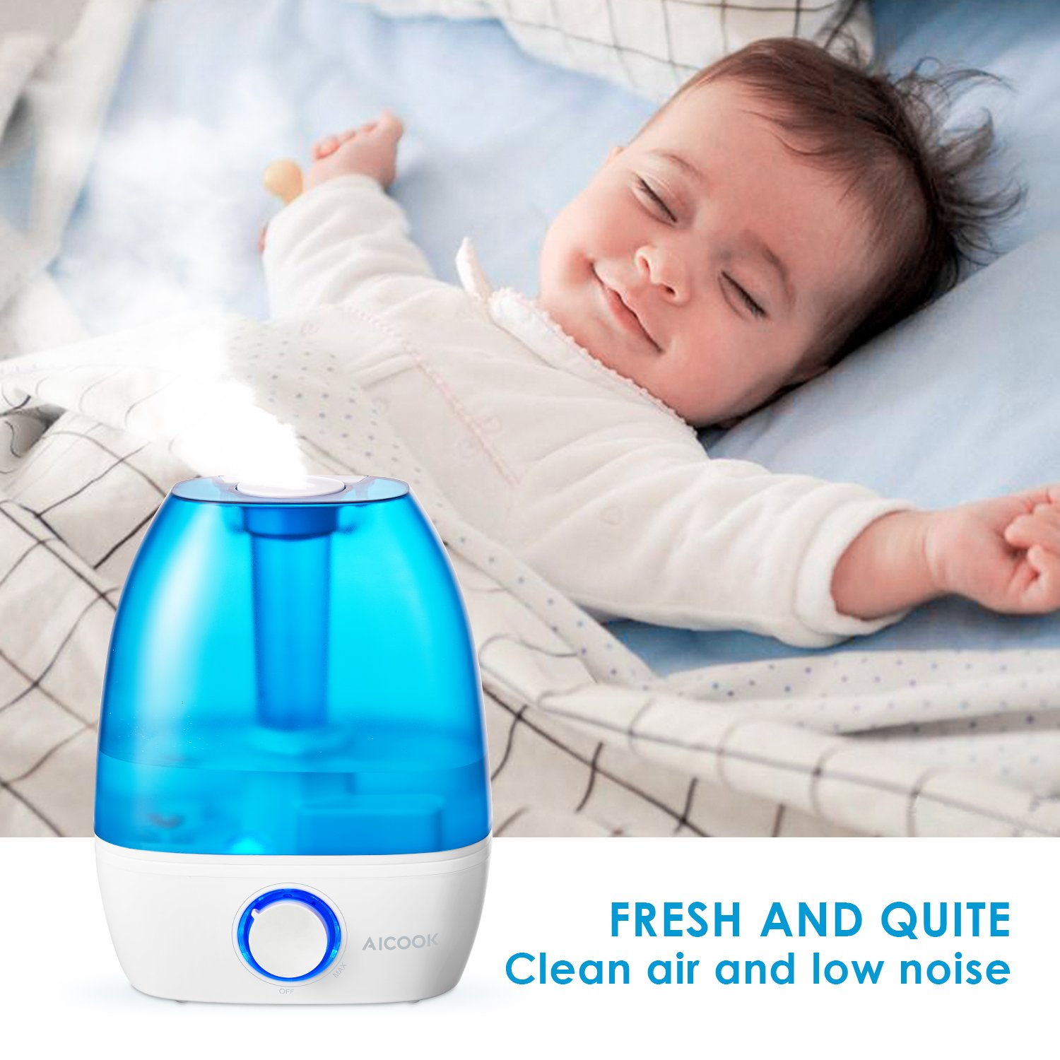 Cool Mist Humidifier, Aicook 3.5L Ultrasonic Humidifiers