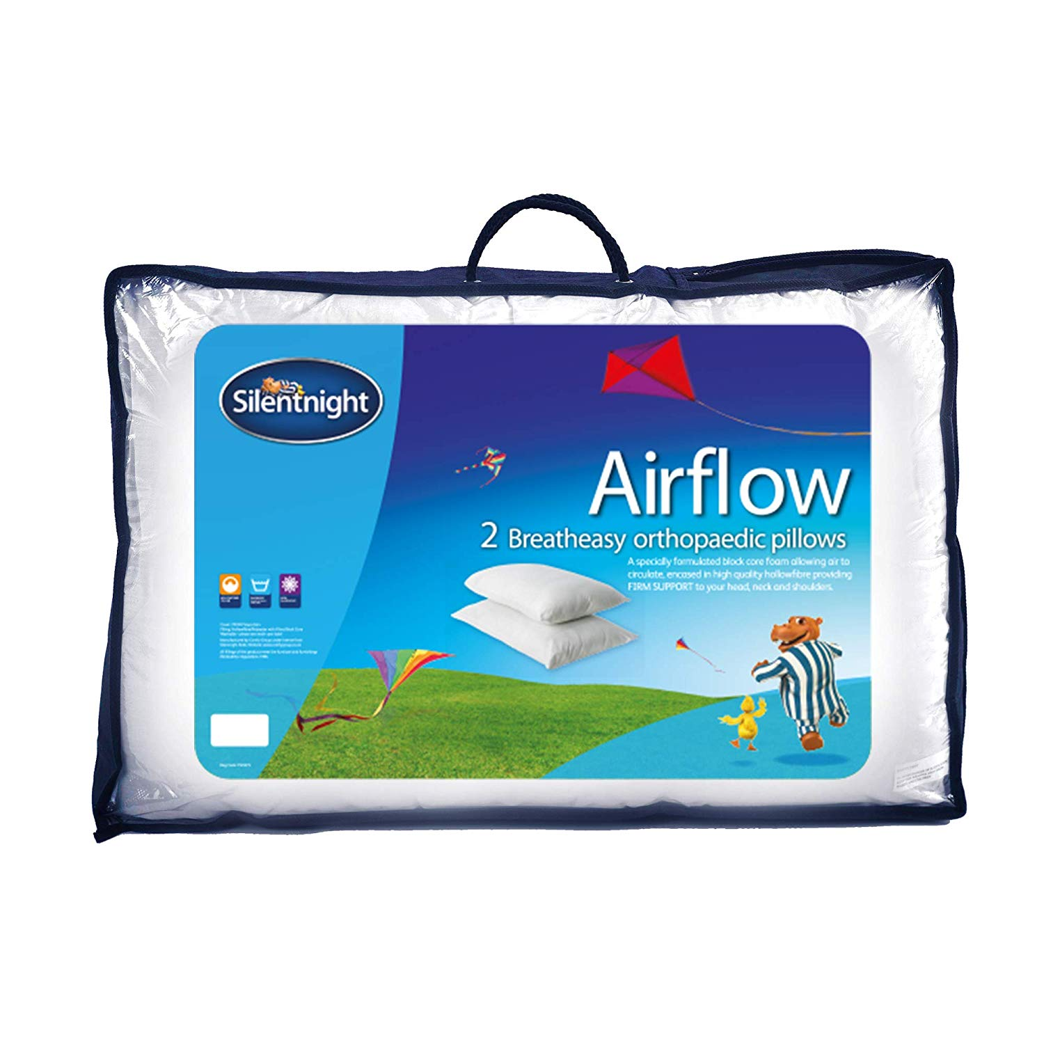 Silentnight Airflow Support Pillow, Pack of 2
