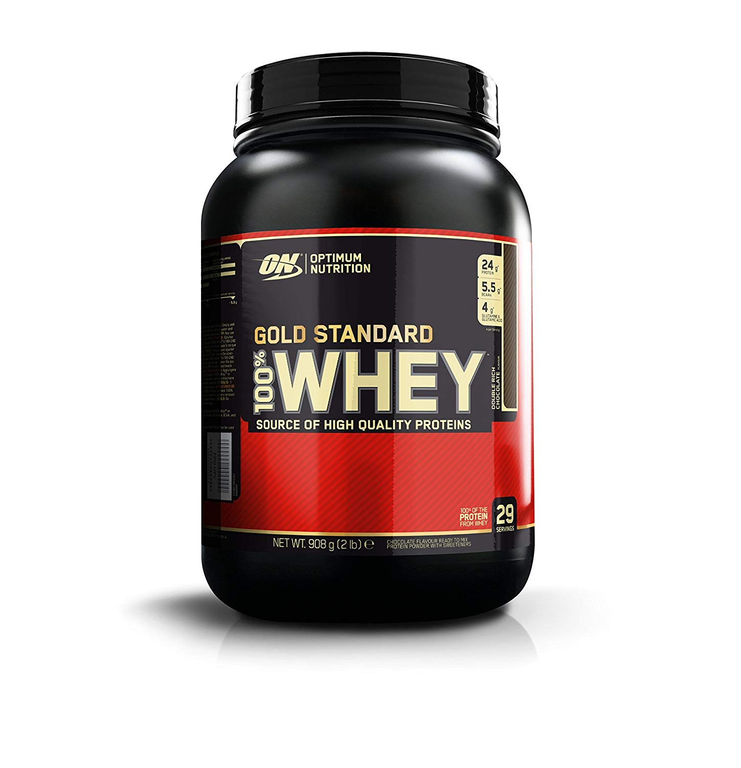 Optimum Nutrition Gold Standard Whey Protein Powder, 908 g