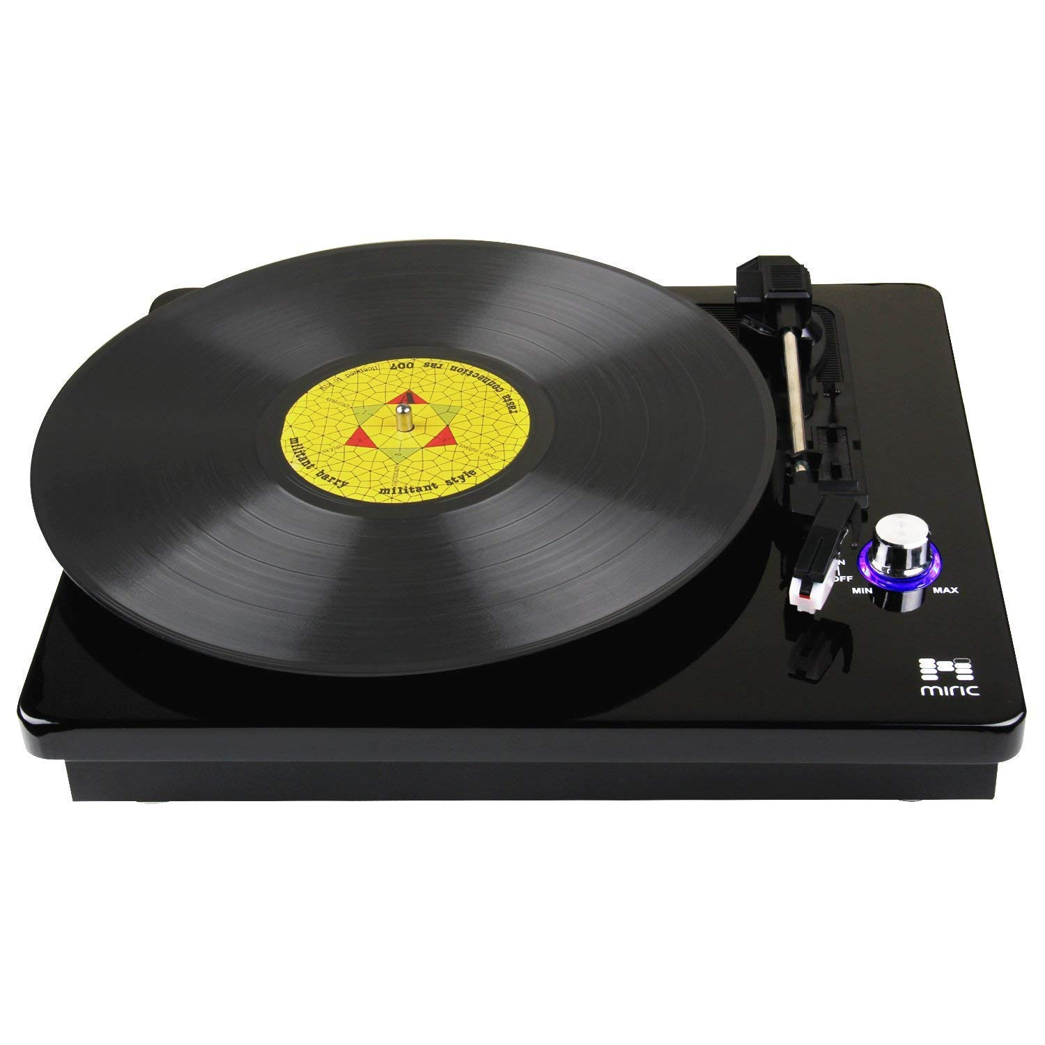 Bluetooth Turntable, Miric Record Player with 2 Built-in Speakers