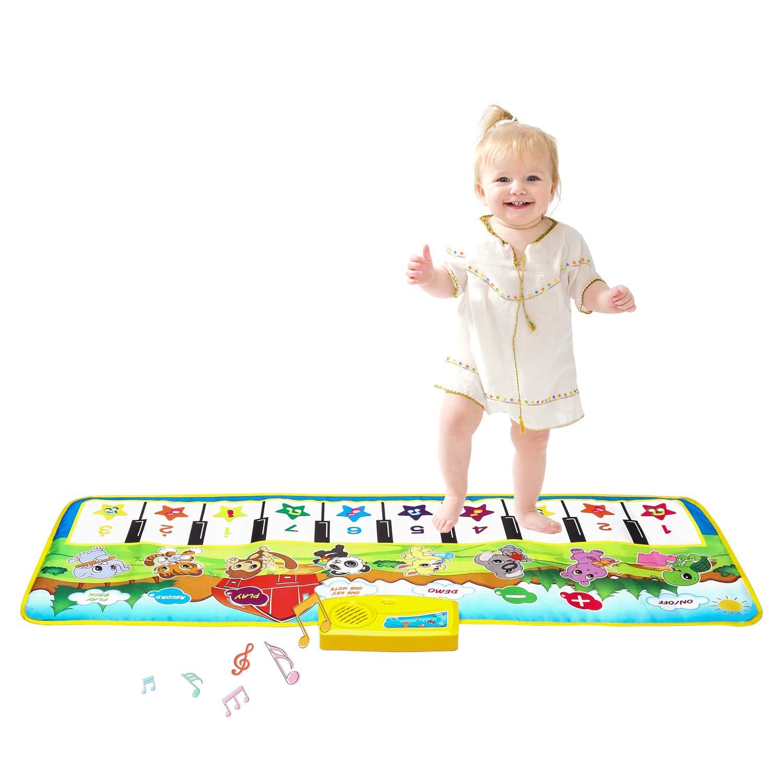 Music Mat, Multi-Function Piano Mat Musical Toys Play Mats