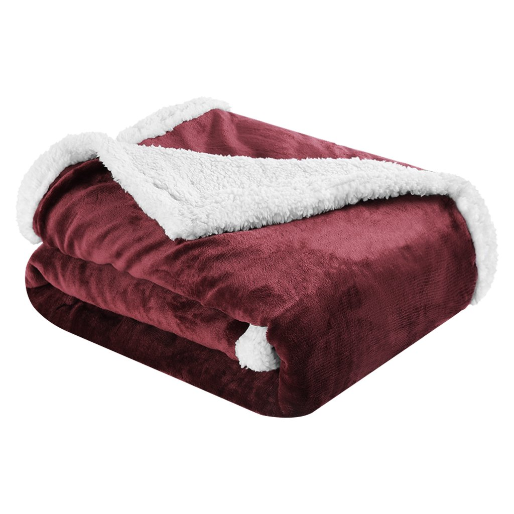 LANGRIA Reversible Fleece Soft Warm Sofa Bed Throw Blanket